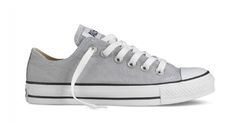 Converse. #Gray #Fashion #Style #Shoes Click to see more cute converses here: http://melissamercier.com/Blog/?p=8445