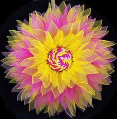 Amazon.com: Pink Yellow Mesh Sunflower Wreath 26 inch: Handmade