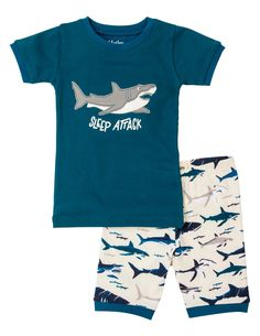 Hatley Toothy Sharks Short Pajama Set
