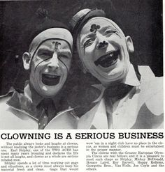 Clowning is a Serious Business