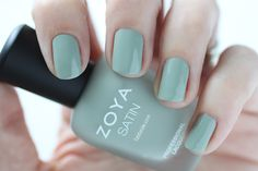 Zoya Naturel Satins Sage Swatch -  Medium Mossy Green Nail Polish for Spring 2015