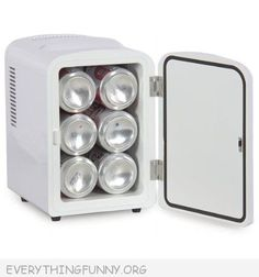 Awesome mini mini fridge - Perfect for office, kids room, dorm, Master Bedroom, Boat and More!