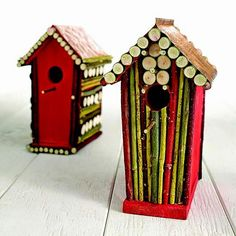 Cómo decorar una casita para pájaros con ramas de arbol :lodijoella