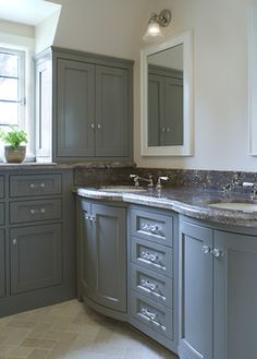 Blue Gray Cabinet Design Ideas, Pictures, Remodel, and Decor - page 7