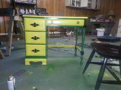 John deer green desk for boys room