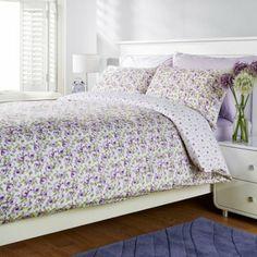 Humming Bird Lottie Floral Roses Purple Cotton Super King Size Duvet Cover Set: Amazon.co.uk: Kitchen & Home