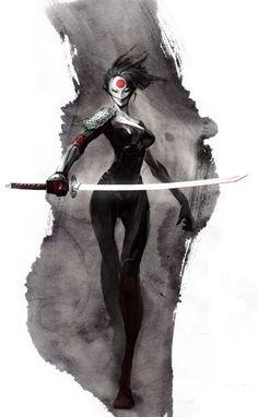 Katana by naratani on DeviantArt Ronin Samurai, Female Samurai, Samurai Art, Comic Book Characters, Comic Character, Dc Comic Books, Comic Art, Marvel, Katana Girl