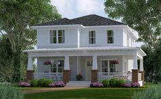 Plano de comoda casa de dos pisos, cuatro dormitorios y 245 metros cuadrados Planos de Casas Gratis | dePlanos.Com