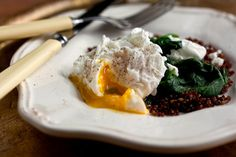 Poached Eggs and Vegetables
