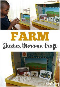 Farm Shoebox Diorama Craft