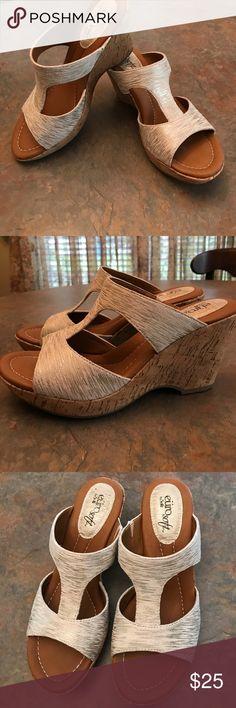 Selling this EuroSoft FARRAH wedge sandal on Poshmark! My username is: danimcneil. #shopmycloset #poshmark #fashion #shopping #style #forsale #eurosoft #Shoes