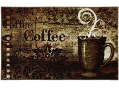 Baroque Coffee Kitchen Rug
