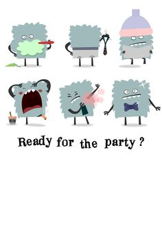 Free Printable Ready For The Party Invitation  great website for adorable invitations!