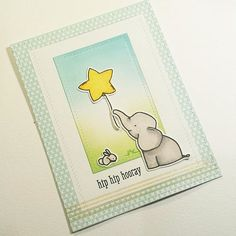card with critters elephant balloon Avery Elle Ellie elephant Avery Elle birthday card ft. Ellie the Elephant!