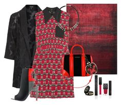 """RED & BLACK"" by emma-oloughlin ❤ liked on Polyvore featuring Topshop, Miu Miu, Alepel, Gucci, Dorothy Perkins, Givenchy and Fendi"