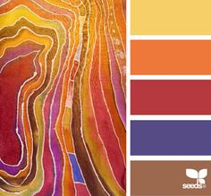 Color: Silk Hues by Design Seed - yellow, orange, red, purple, brown.