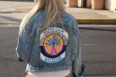 Daydream Believer  Hand Painted Denim Jacket by 1DenimDaydream