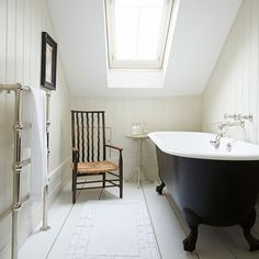 Bathroom | Take a tour around a white Hamptons-style Victorian terrace in London | House Tours | PHOTO GALLERY | Livingetc | Housetohome
