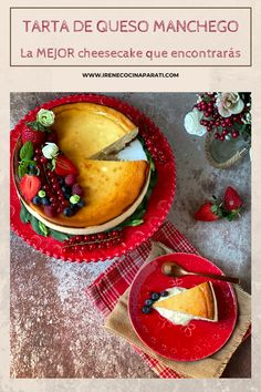 Queso Manchego, Cheesecakes, Tarts, Diabetes, Panna Cotta, Sweet, Ethnic Recipes, Desserts, Life