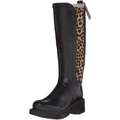 ILSE JACOBSEN Women's Rub 64 Rain Boot ($44) ❤ liked on Polyvore featuring shoes, boots, wellies shoes, leopard rain boots, leopard print boots, leopard print rubber boots and leopard print rain boots