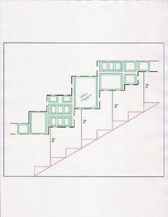 Through the Front Door: stairway photo walls