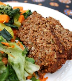 Lentil & Rice Loaf: This flavorful loaf is perfect for the holidays, or anytime you want a hearty main dish. It can be made with fresh or dried herbs. (vegan) (Bake Meatballs With Oats) Lentil Recipes, Veggie Recipes, Vegetarian Recipes, Cooking Recipes, Healthy Recipes, Loaf Recipes, Vegan Brown Rice Recipes, Vegetarian Meatloaf, Dinner Recipes