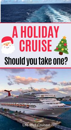 What you need to know about a Christmas cruise. What activities to expect and what will the cruise experience be like? Will it be a perfect family cruise? We share all the info! #christmas #holidaycruise #christmasvacation #familyvacation #familycruise #carnivalcruise Best Cruise, Cruise Port, Cruise Tips, Cruise Vacation, Christmas Cruises, Christmas Vacation, Cruise Reviews, Family Cruise
