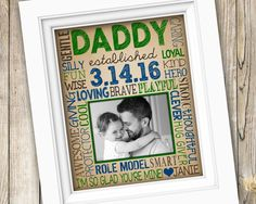 First Time Dad Gift ~ New Dad Gift for Daddy ~ First Father's Day Gift ~ Printable Daddy Baby Photo Gift ~ Est Birthdate From Child DIGITAL by SubwayStyle on Etsy