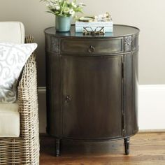 Louis Metal Side Table | Ballard Designs $600  Think this would be perfection... a little pricey but so stylish!