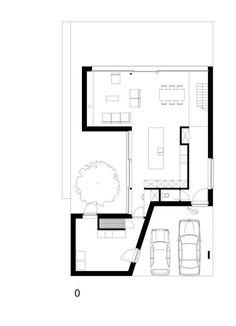 Concrete Architecture, Modern Architecture House, Architecture Plan, Bungalow House Design, Tiny House Design, Modern Floor Plans, Villa Plan, House Drawing, House Layouts