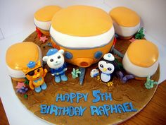 Octonauts Birthday Cake - This site has some great suggestions for the wording of an Octonauts Party Invitation. Fourth Birthday, 4th Birthday Parties, Birthday Stuff, Birthday Ideas, Nautical Birthday Cakes, Kids Party Themes, Party Ideas, Theme Ideas, Octonauts Party