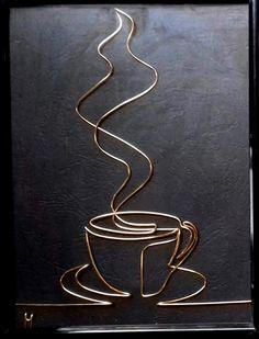 Copper Wire Crafts, Copper Wire Art, Metal Crafts, Metal Yard Art, Scrap Metal Art, Wire Art Sculpture, Wire Sculptures, Abstract Sculpture, Ceramic Sculptures