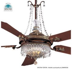 chandelier ceiling fan...I need this. Actually a bunch of these!! It is the perfect compromise for my chandeliers and Josh's ceiling fans.