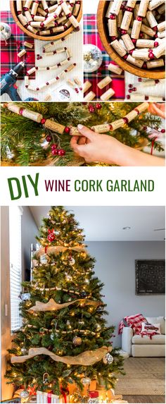 Get out your art & crafts and make some Christmas decor with this easy DIY Wine Cork Garland idea! The full tutorial is on Cambria Wines, click to read it now or PIN to save for later.