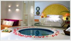 not liking the round tub, but like the shutters opening to the room
