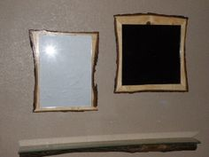 Hand made Living  edge  picture frames  with  antique  glass  made by Creatively Kustomized...kevin0420742@gmail.com