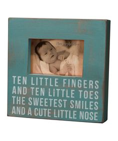 Take a look at this Blue 'Ten Fingers' Frame by Primitives by Kathy on #zulily today!  http://www.zulily.com/invite/Zulily20Store