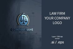 Law firm logo design Templates Law firm logoFont url in zip - Size - Fully Editable - CMYK / 300 dpi - Customizable Text - Eas by Elshan Guliyev Lawyer Business Card, Business Brochure, Business Card Logo, Logo Design Template, Logo Templates, Law Firm Logo, Accounting Logo, Business Illustration, Photography Website