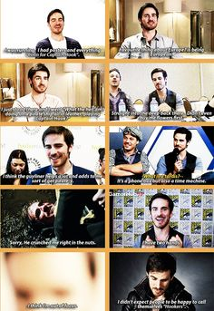 Colin O'donoghue/Captain Hook If I wasn't in love before. I am now. He talked tardis to me.