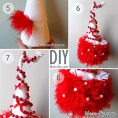 DIY Tulle Christmas Tree — Ideas-diy.com