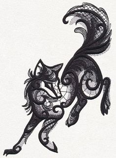 Dark Creatures - Wolf - Thread List | Urban Threads: Unique and Awesome Embroidery Designs:
