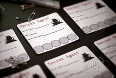 Redfly Creations: Secret Agent Birthday Party - Free Printables