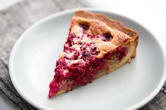 Raspberry Walnut Tart Recipe | Simply Recipes