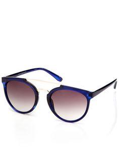 Rita Round Brow Bar Sunglasses