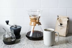 Secrets to Make the Perfect Cup of Coffee Chemex ; Gardenista