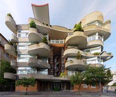 1970s apartment building in Rome - L'architettura nel Secondo Novecento a Roma