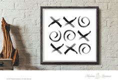 Printable Art xo art print Circle art prints #Minimalist Wall Art Home Decor Watercolor art