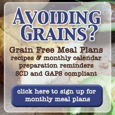 Full GAPS/grain free meal plans