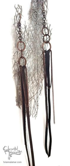 RESERVED for Alaina Leather Fringe Earrings with by briannalamar