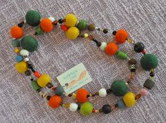 felted balls combined with beads